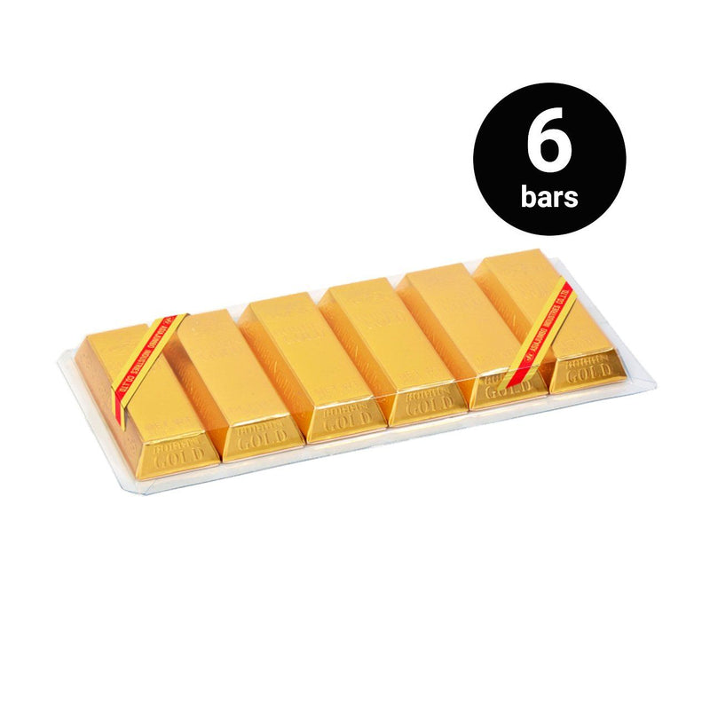 JB BOB Bin Gold Chocolate (1 pack, 6 bars)