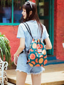 Drawstring double shoulder bag (Orange)