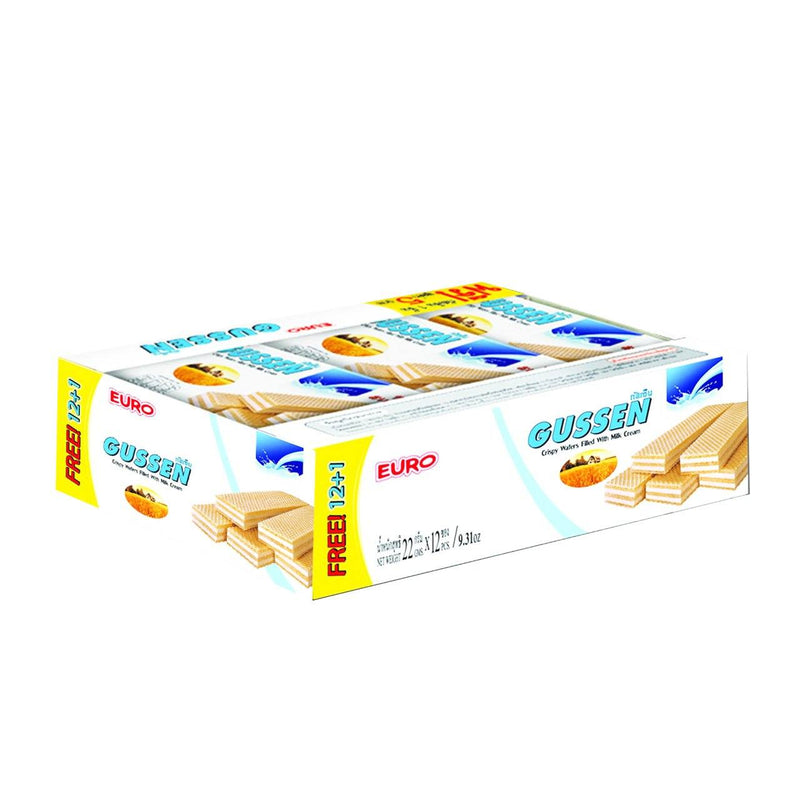 Euro Gussen Crispy Wafer Milk Cream (1 pack, 15 pcs)