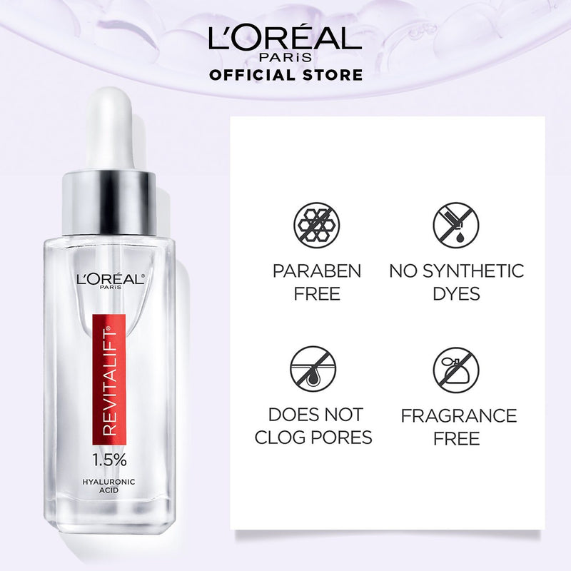 L'Oréal Hyaluronic Acid Plumping Serum (Plump, Smooth, Radiance) 30ml