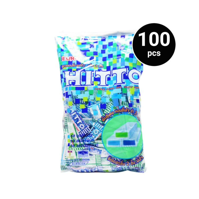 Hitto Candy Mint Assorted 300g (1 pack, 100 pcs)