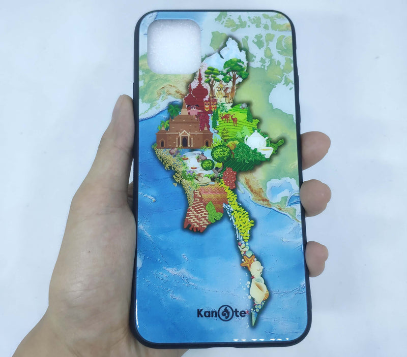 iPhone 11 Pro Max Case (Myanmar Yandanar, Tempered Glass Cover)