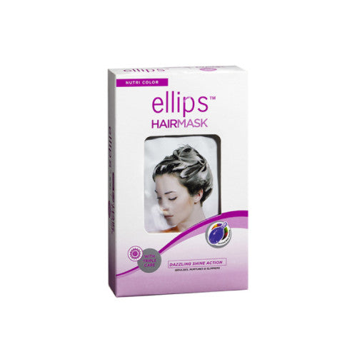Ellips Nutri Color For Colored Hair Hair Mask Box 4 Sachets