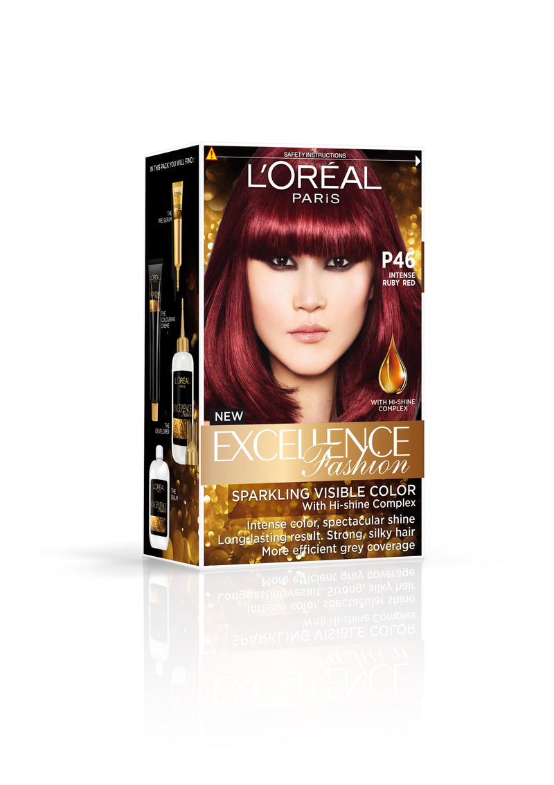 L'Oréal Excellence Fashion Hair Color P46 Intense Ruby Red 172 ml
