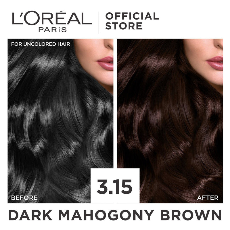 L'Oréal Excellence Crème Hair Color 3.15 Dark Mahogany Brown 172ml