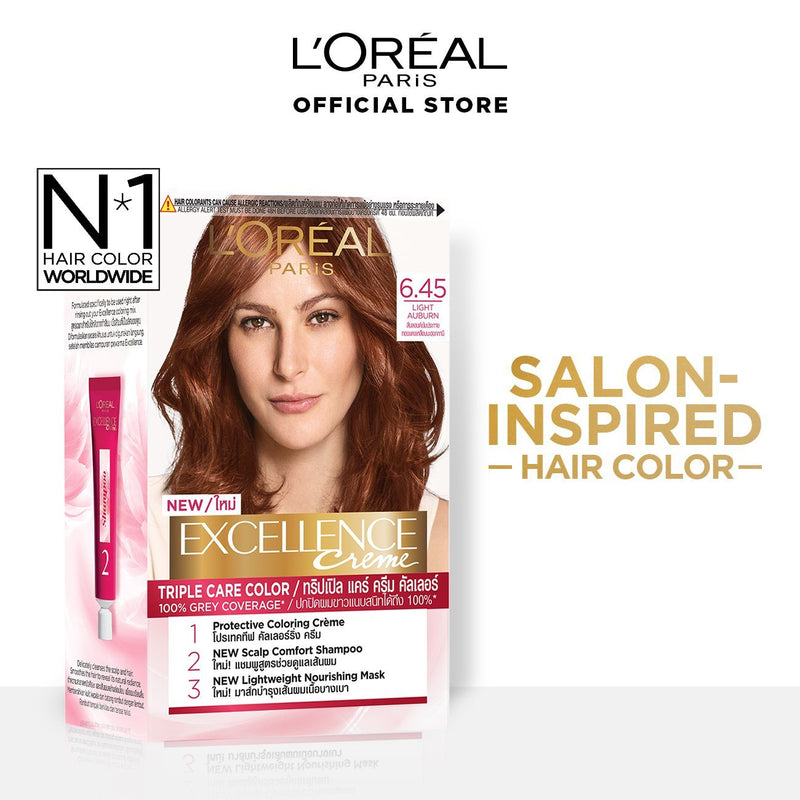 L'Oréal Excellence Fashion Hair Color 6 45 Light Auburn 172ml