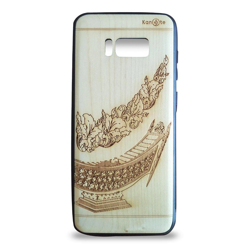 Samsung S8+ Genuine White Wood Protective Phone Cover