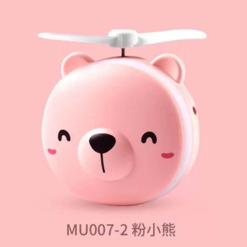 Pink Bear Mini Fan with Make-up Mirror (4488893857910)