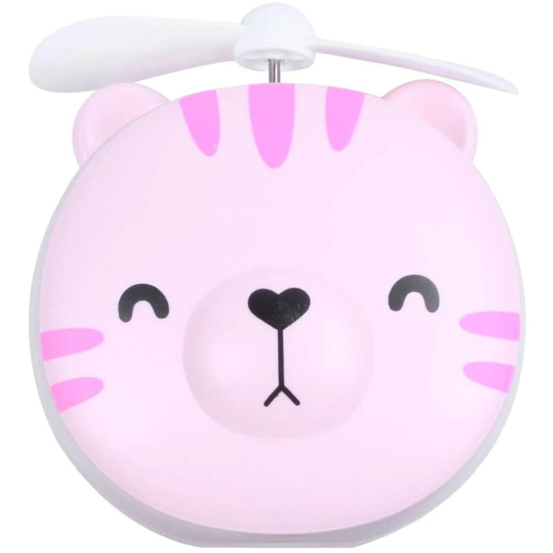 Pink Cat Mini Fan with Make-up Mirror (4488893792374)