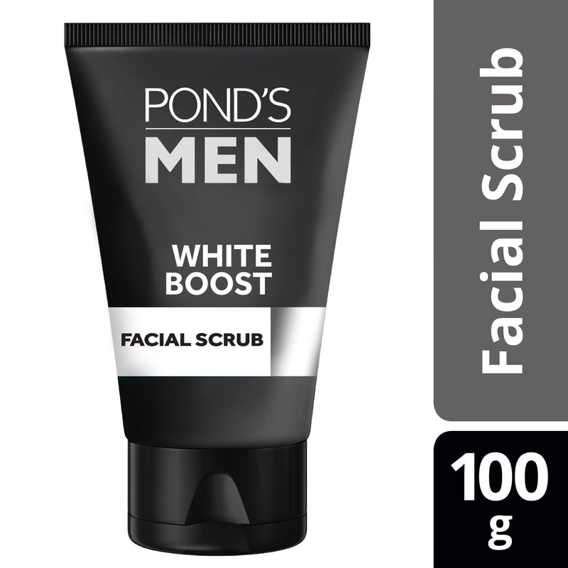 Ponds Men White Boost Facial Scrub 100g