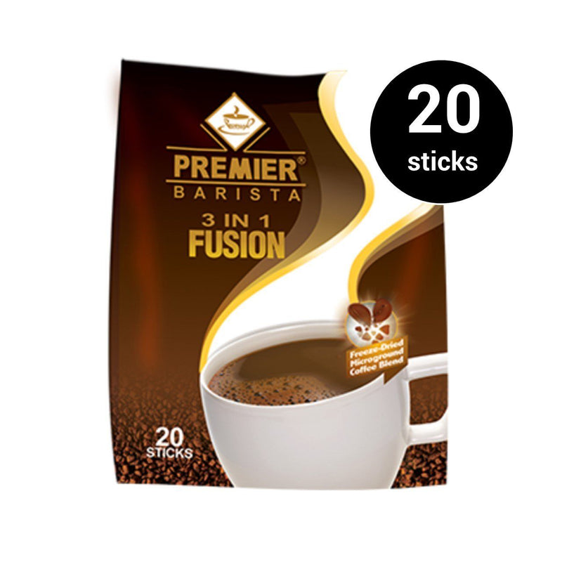 Premier 3 in 1 Barista Fusion (16g) (1 pack, 20 sticks) (4489716105334)