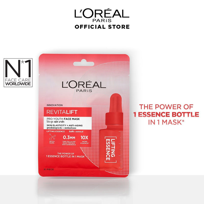 L'Oréal Revitalift Pro Youth Essence Face Sheet Mask Lifting 30g