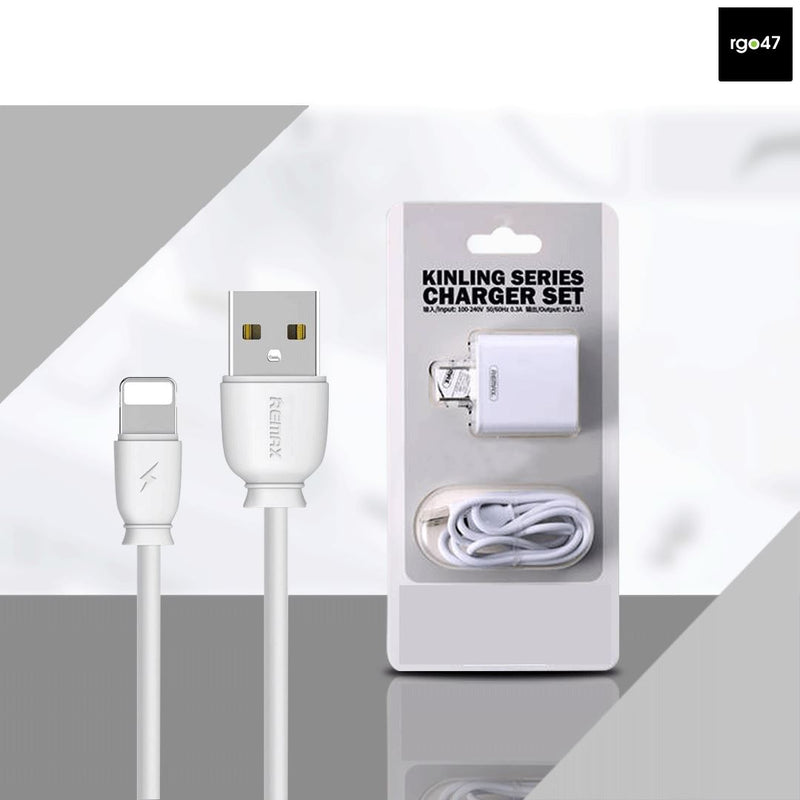 Remax Kinling Series 2.1A Single USB Charger Set for Iphones RP-U110 CN