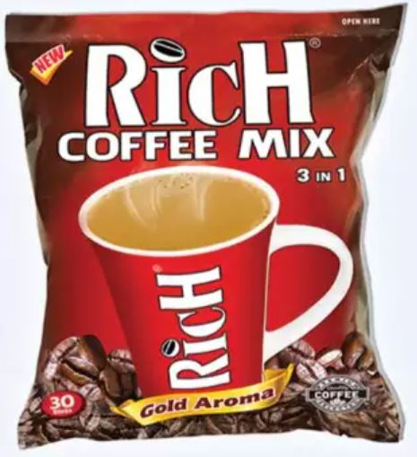 Rich 3 in 1 Coffee Mix (18g) (1 pack, 30 sticks) (4489778102390)
