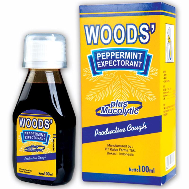 Woods' Peppermint Expectorant (1 bottle of 100ml) (4513927168118)