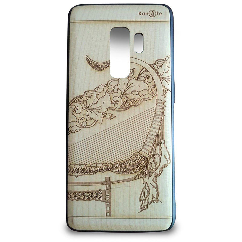 Samsung S10+ Genuine White Wood Protective Phone Cover