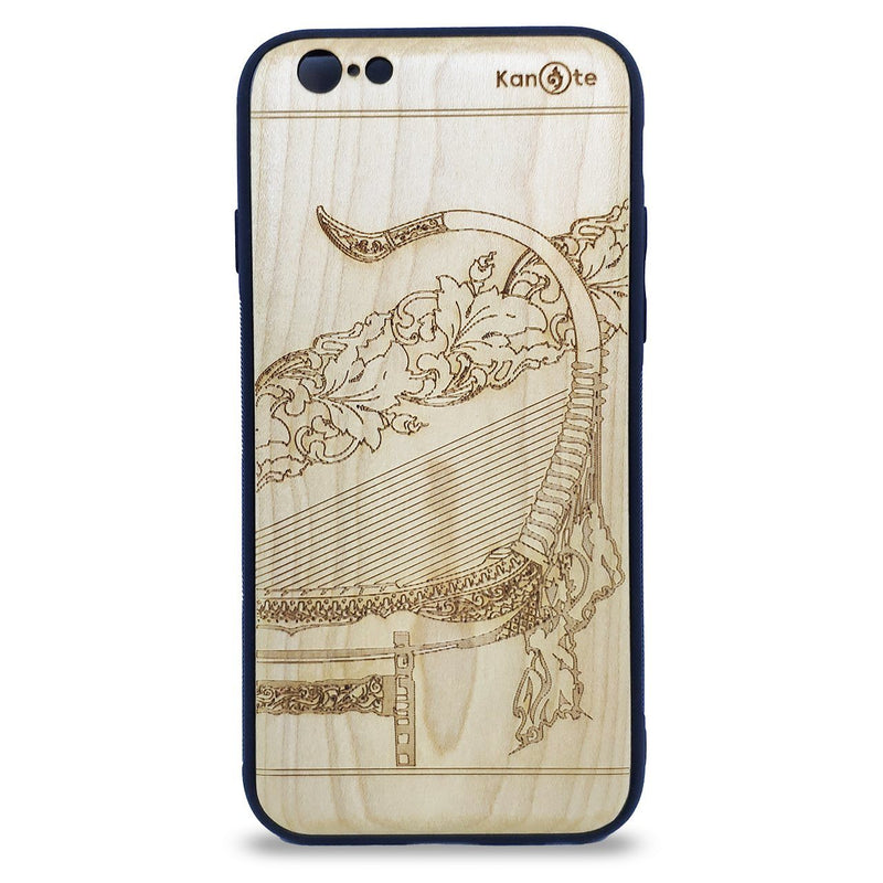 iPhone SE2 Genuine White Wood Protective Phone Cover