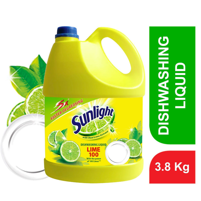 Sunlight Lemon Dishwashing Liquid 3.8Kg