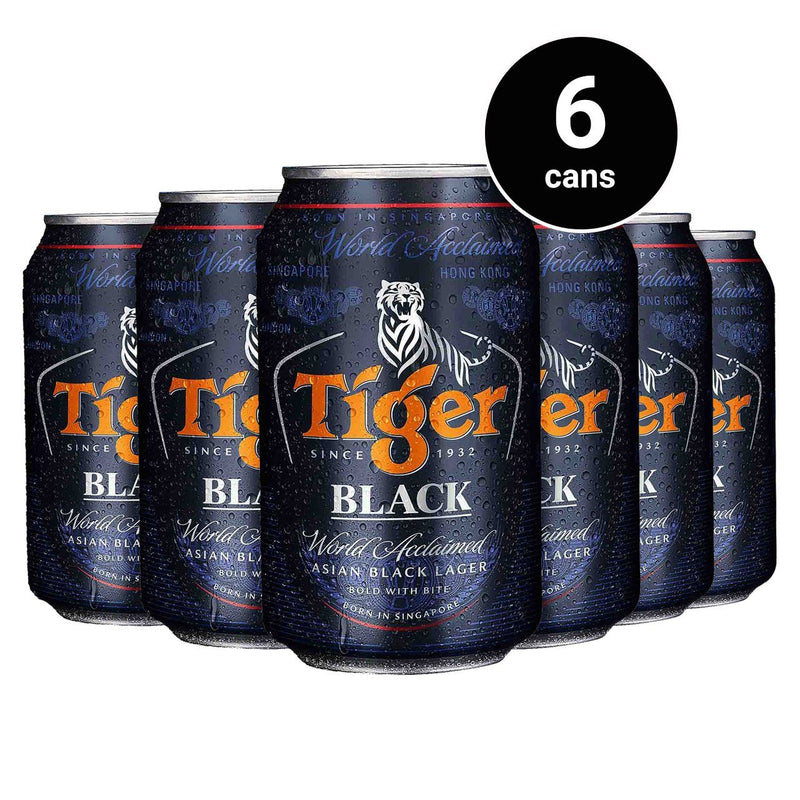 Tiger Black Beer Can 330ml (6 cans)