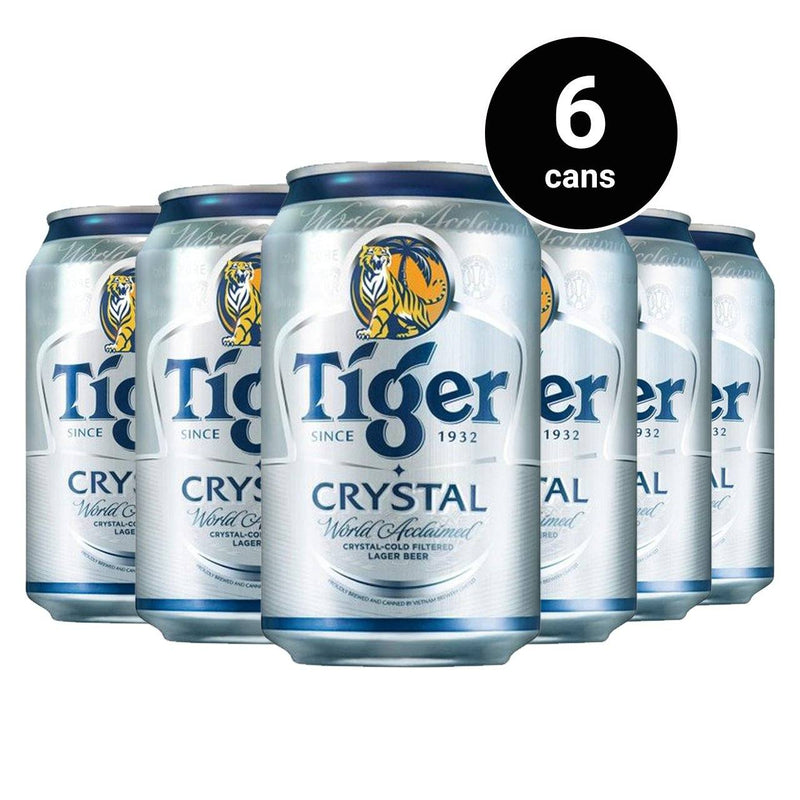 Tiger Crystal Beer Can 330ml x 6 Units