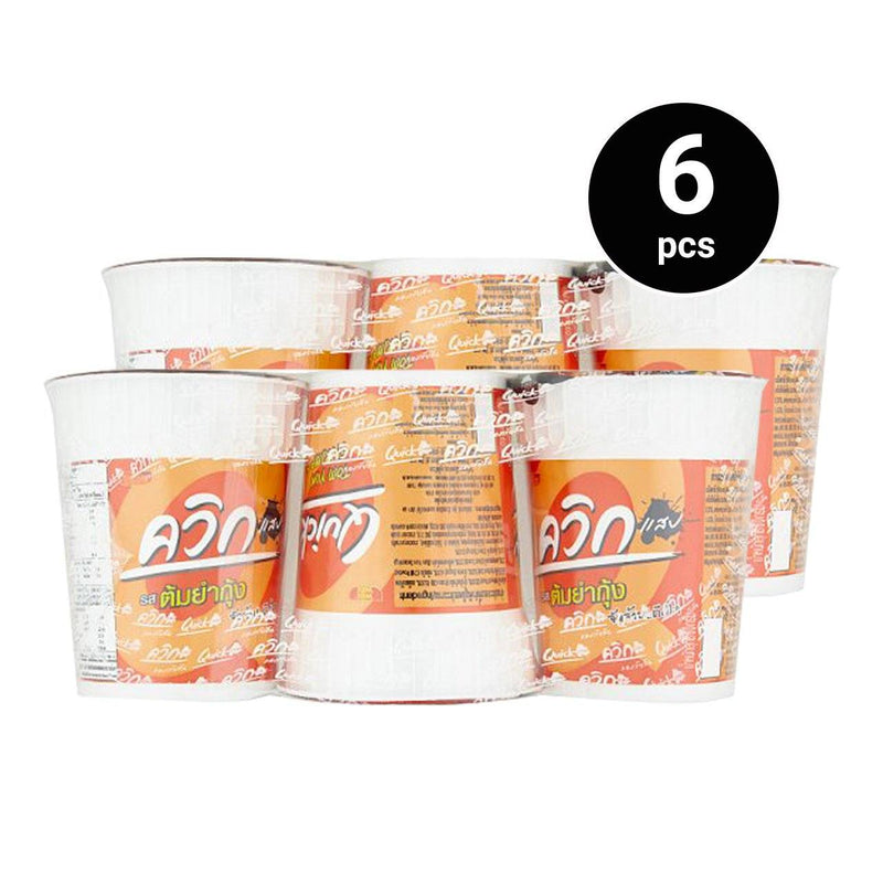 Wai Wai Quick Tom Yum Shrimp 60g x 6 cups