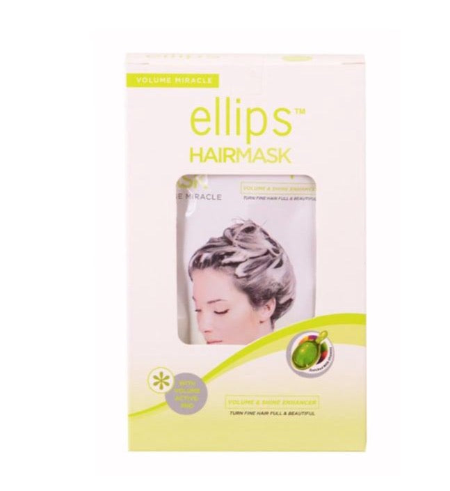 Ellips Volume Miracle For Fine Hair And Less Fluffy Hair Mask 4 Sachets
