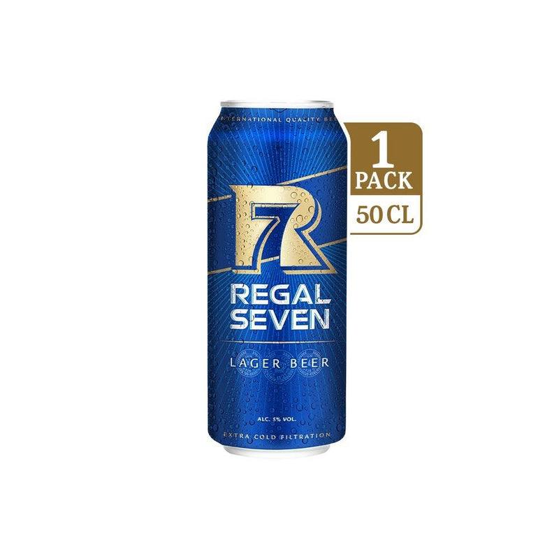 Regal Seven Lager Beer Can 500ml (6 cans)
