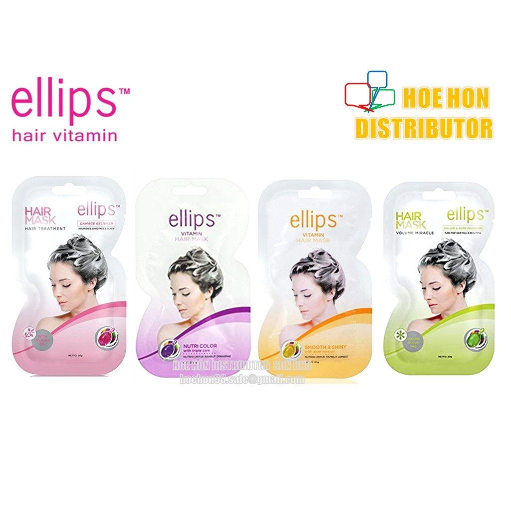 Ellips Smooth Shiny For Normal Hair With Tendency To Dull Hair Mask 4 Sachet
