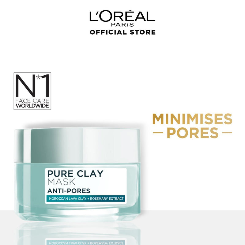 L'Oréal Pure Clay Mask Anti-Pores 50g