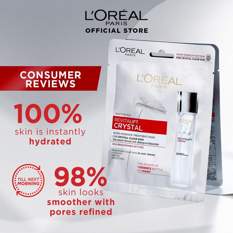L'Oréal Revitalift Crystal Micro Essence Treatment Mask 30g
