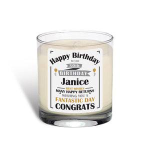 Birthday Celebration Rose Scented Candle