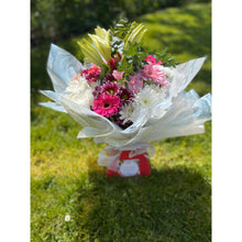 Load image into Gallery viewer, Lily, Gerbera & Eucalyptus Bouquet
