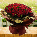 100 Red Rose Living Bouquet
