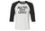 ACL Adult Black on White Fleck Baseball Shirt