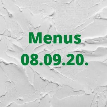 Fortnightly Main Menu & Vegan Menu from 08.09.2020
