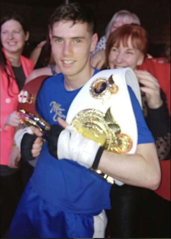 Semi Professional Boxer Joe Leyland Flaunting His Championship Belts