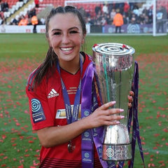 Katie Zelem Celebrating Winning The Women's Championship With Manchester United
