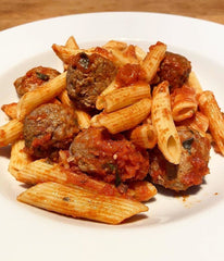 Lamb Meatballs and Pasta In a Tomato Based Sauce