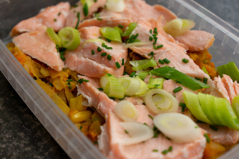 A colourful and just as tasty Salmon Hash