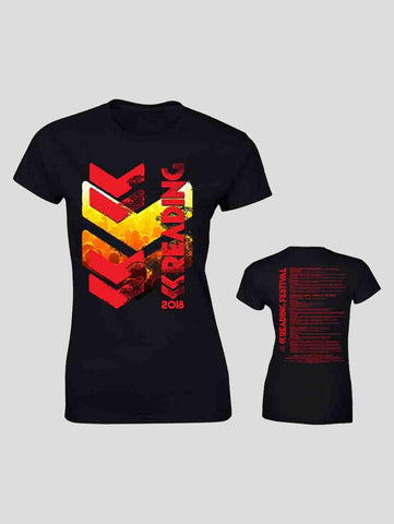 Reading 2018 Black Event Ladies T-Shirt