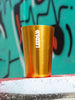 Leeds Yellow Logo Metal Cup