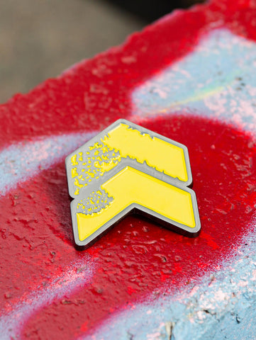 Leeds Chevron Logo Festy Pin