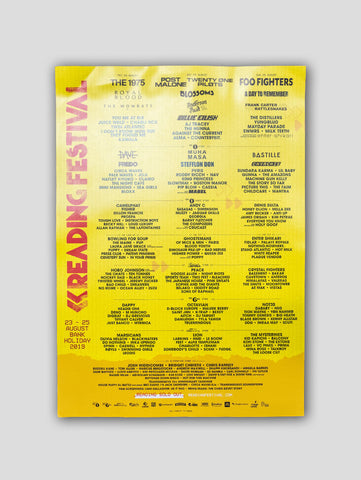 Reading 2019 Line Up Poster