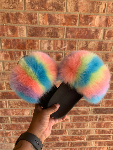Cotton Kandy XXL Fur Slides
