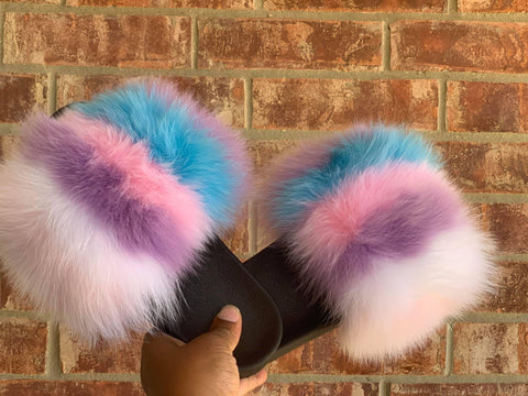 Unicorn XXL Fur slides