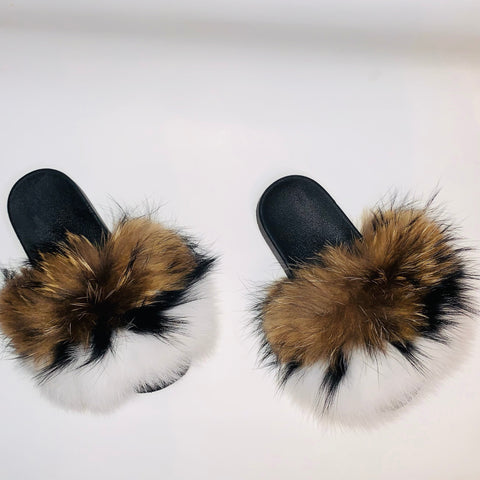 S'mores XXL fluffy Slides