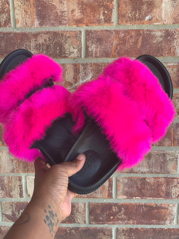 Barbie Pink Fluffy Slippers