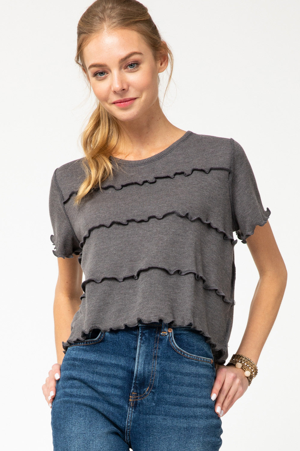 Sandy Waffle Knit Top