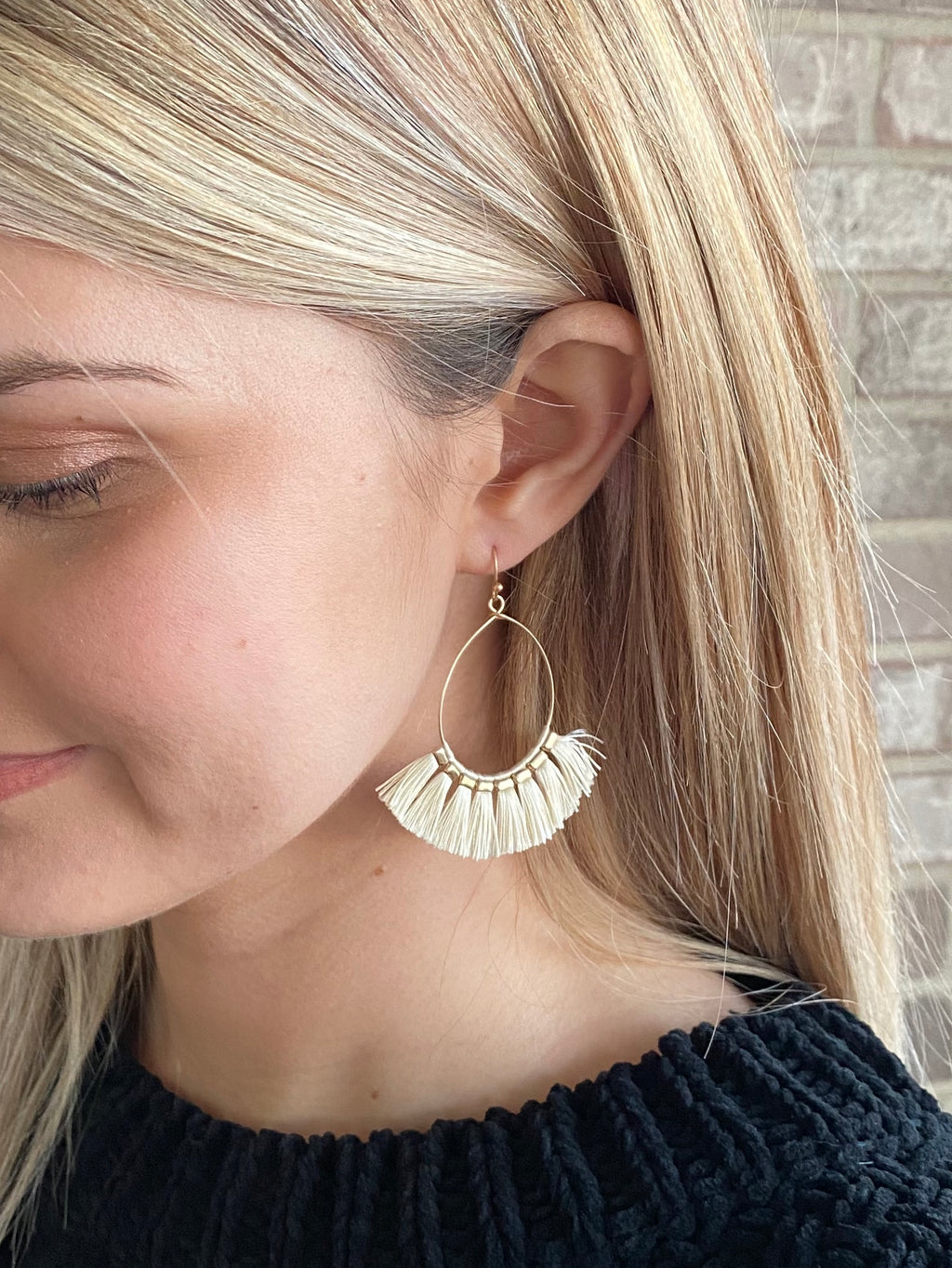 Ella Ivory Tassel Earrings