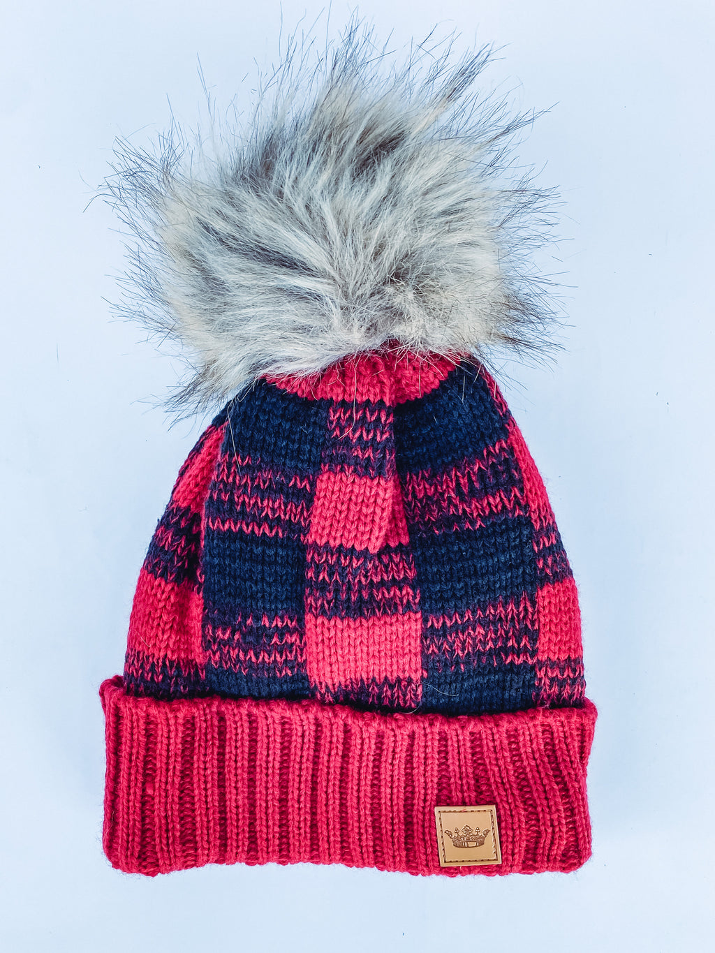 Red and Black Plaid Beanie